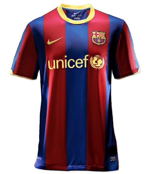 FCB Home 10_11 Jersey